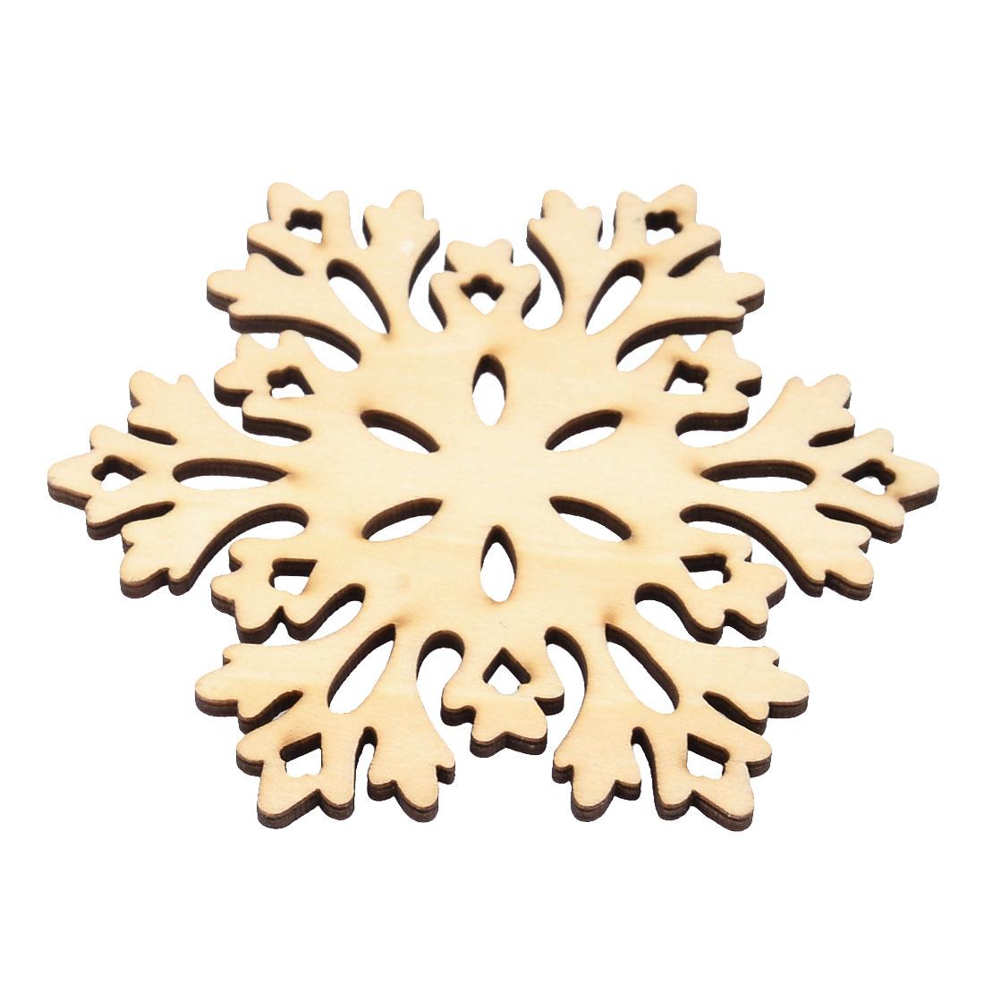 Wooden Snow Shape Tea Wine Cup Mat Holder Coffee Drinks Coaster