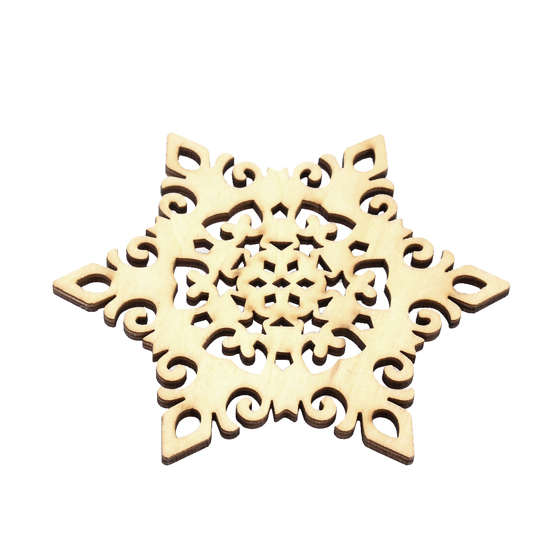 Natural Wooden Snow Shape Tea Cup Mat Holder Coffee Drinks Coaster