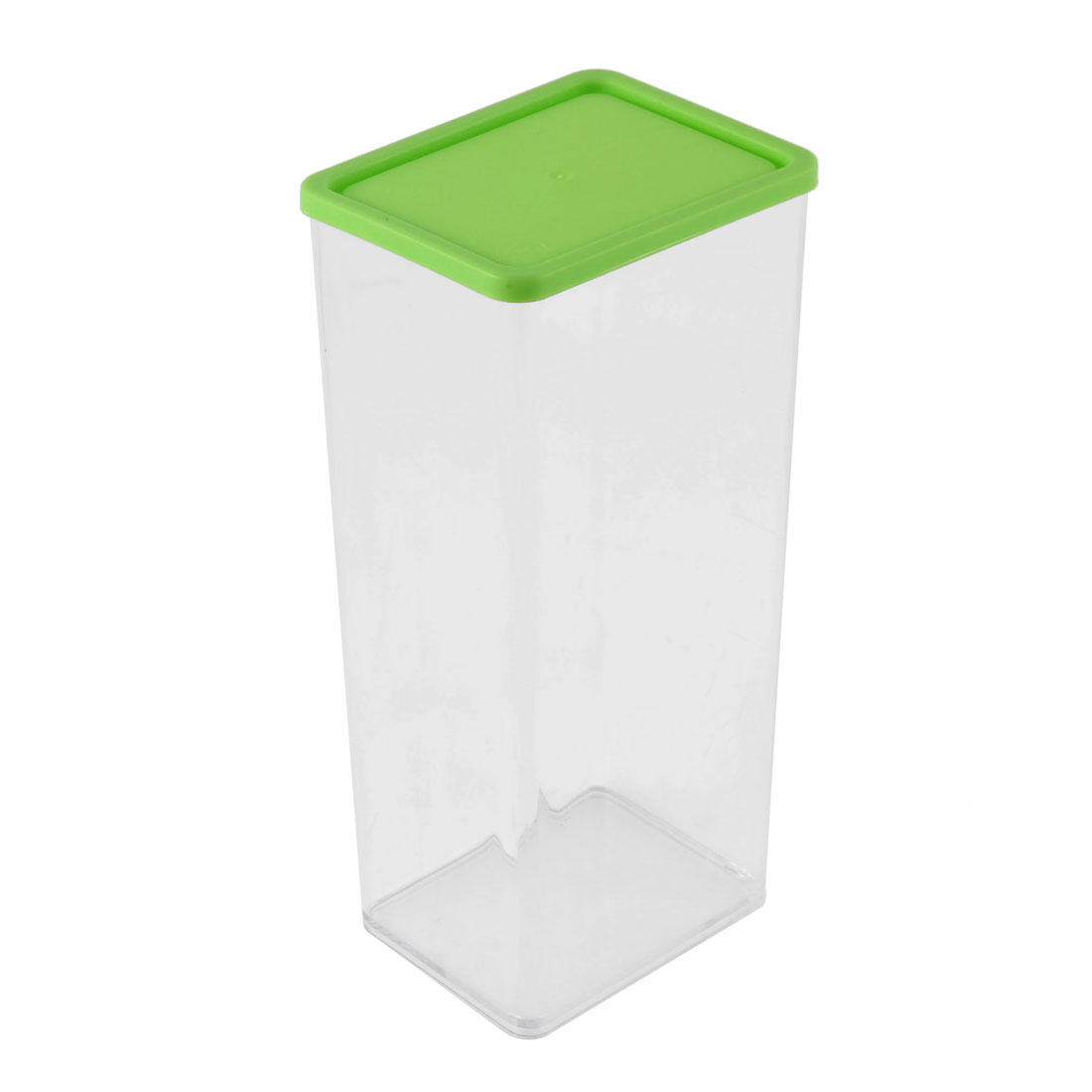 Office Plastic Cuboid Shaped Airtight Food Storage Box Container 1230ML Green