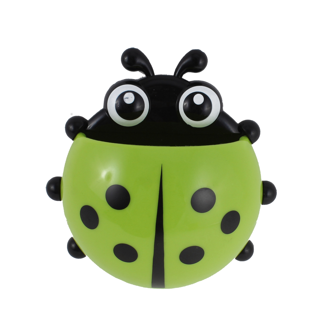 Ladybird Shape Suction Cup Toothbrush Toothpaste Holder Rack Stand Green