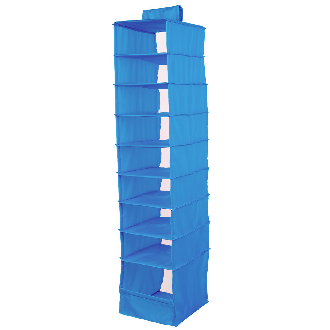 Foldable 9 Compartments Clothes Underwear Organizer Storage Box Blue