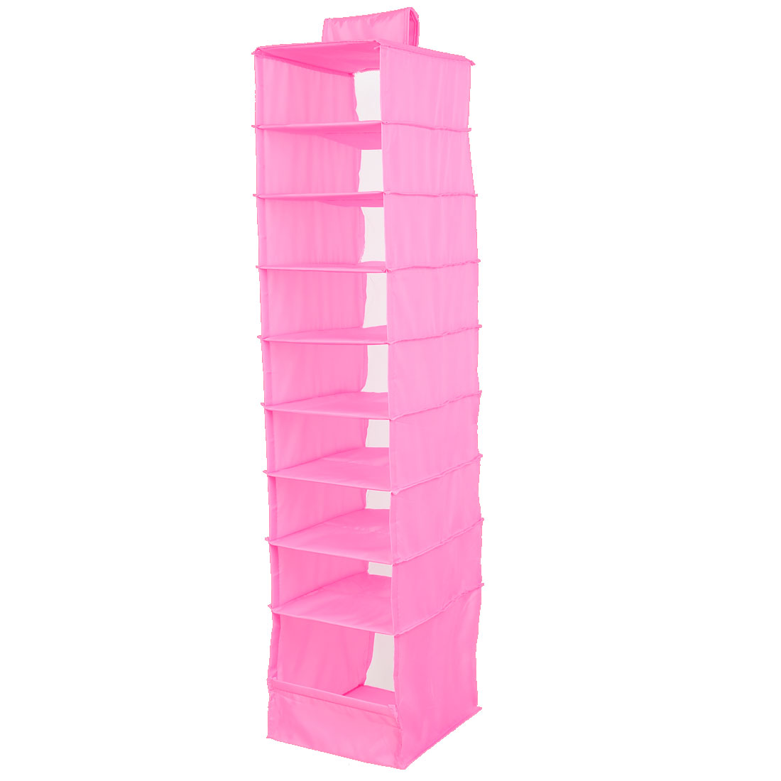Foldable 9 Compartments Clothes Underwear Organizer Storage Box Pink