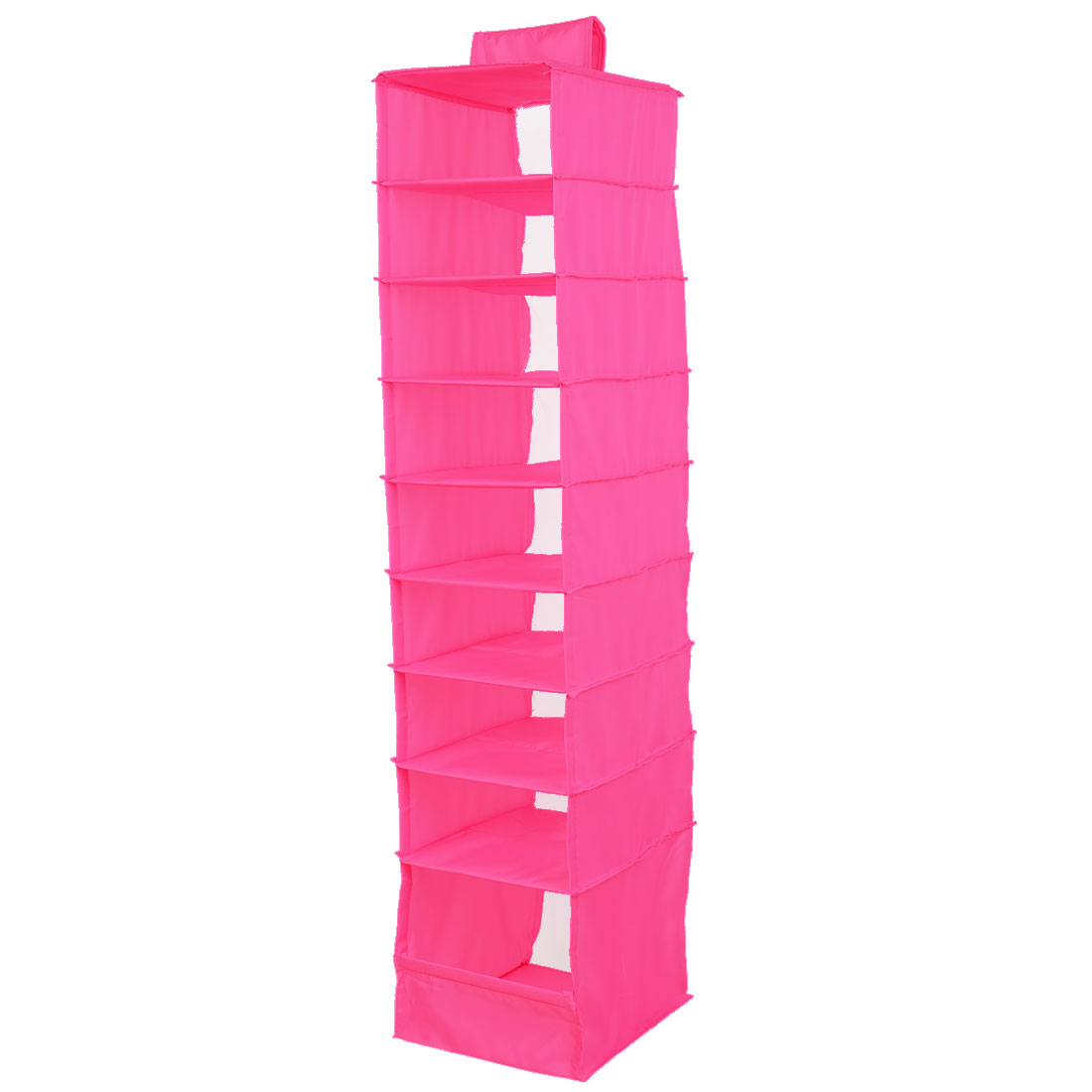 Foldable 9 Compartments Clothes Underwear Organizer Storage Box Fuchsia