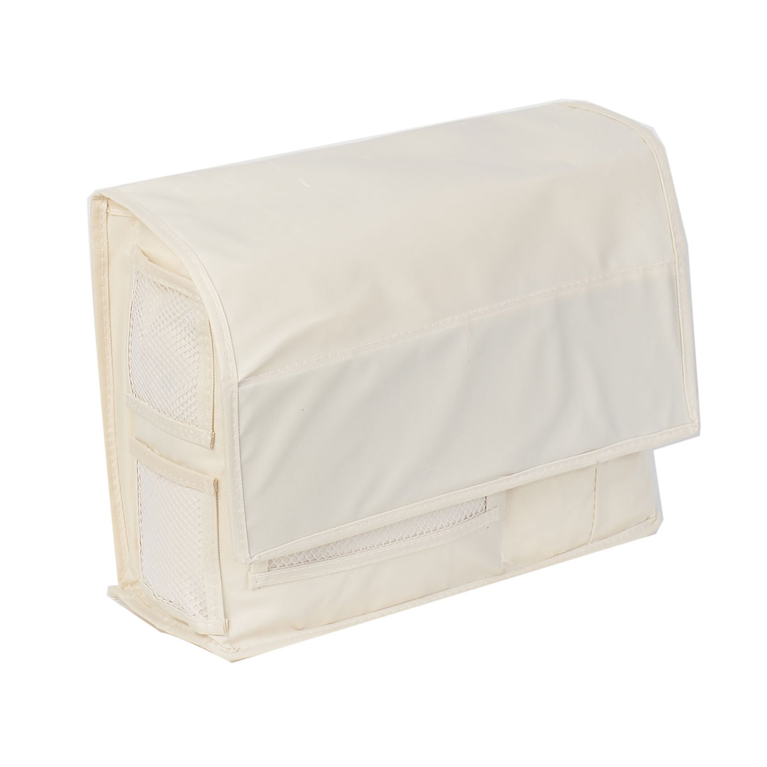 Bedside Sofa Hanging Bag Holder Caddy Pockets Organizer Storage Beige