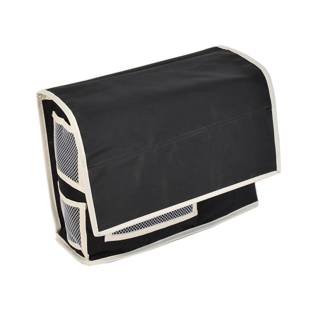 Bedside Sofa Hanging Bag Holder Caddy Pockets Organizer Storage Black