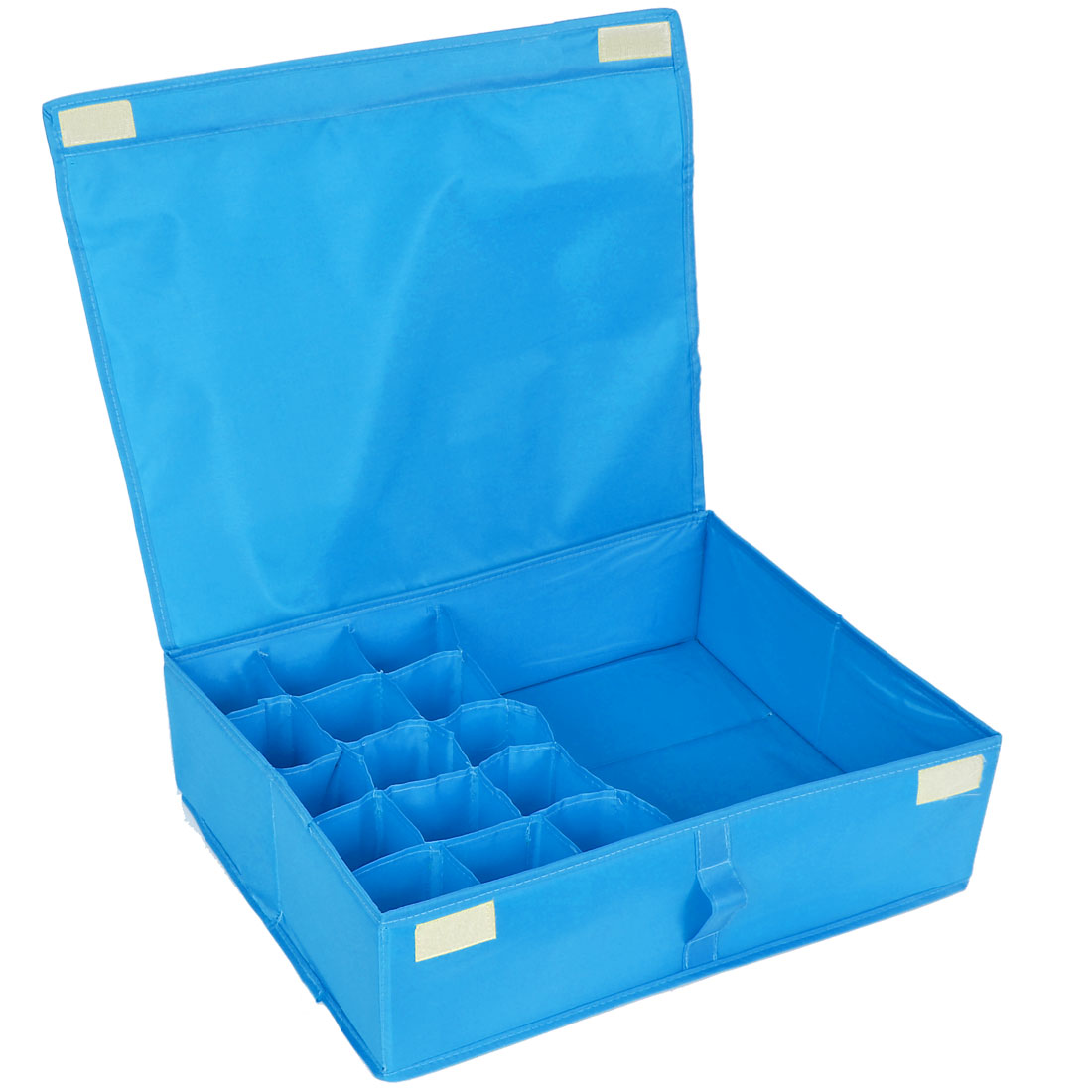 Clothes Briefs Underwear 16 Compartments Organizer Storage Box Bag Blue