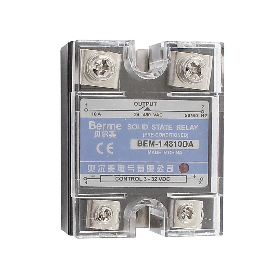 Solid State Relay Module BEM-1 4810DA DC-AC 25A 3-32VDC/24-480VAC