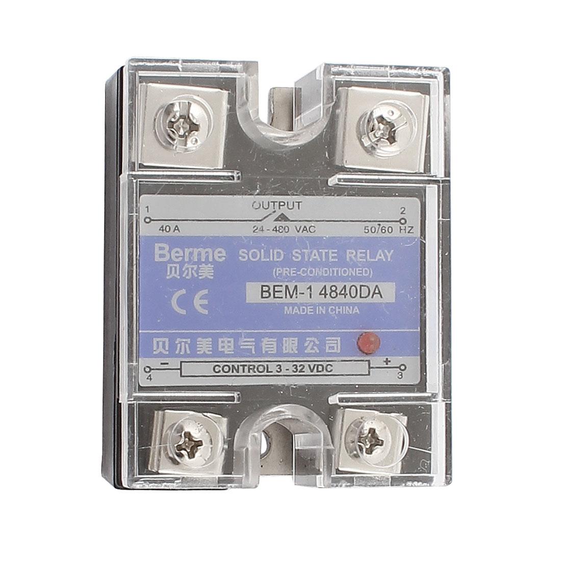 Solid State Relay Module BEM-1 4840DA DC-AC 40A 3-32VDC/24-480VAC