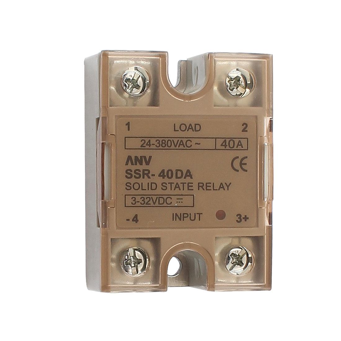 Solid State Relay Module ANV SSR-40DA DC-AC 25A 3-32VDC/24-380VAC