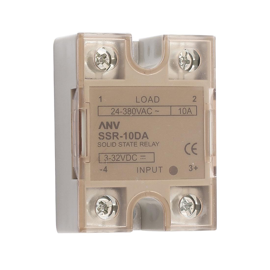 Solid State Relay Module ANV SSR-10DA DC-AC 10A 3-32VDC/24-380VAC