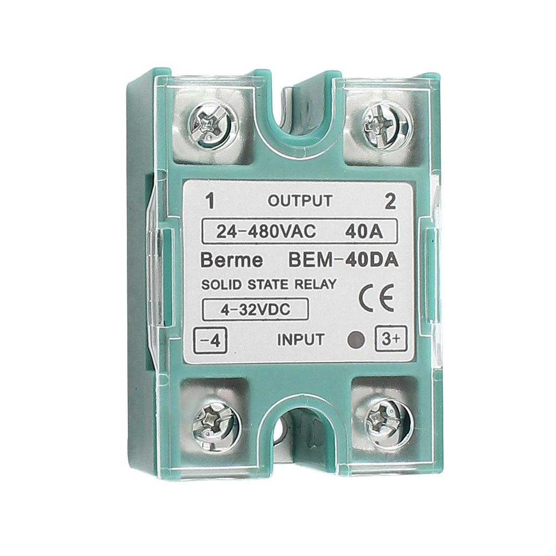 Solid State Relay Module BEM 40DA DC-AC 10A 4-32VDC/24-480VAC