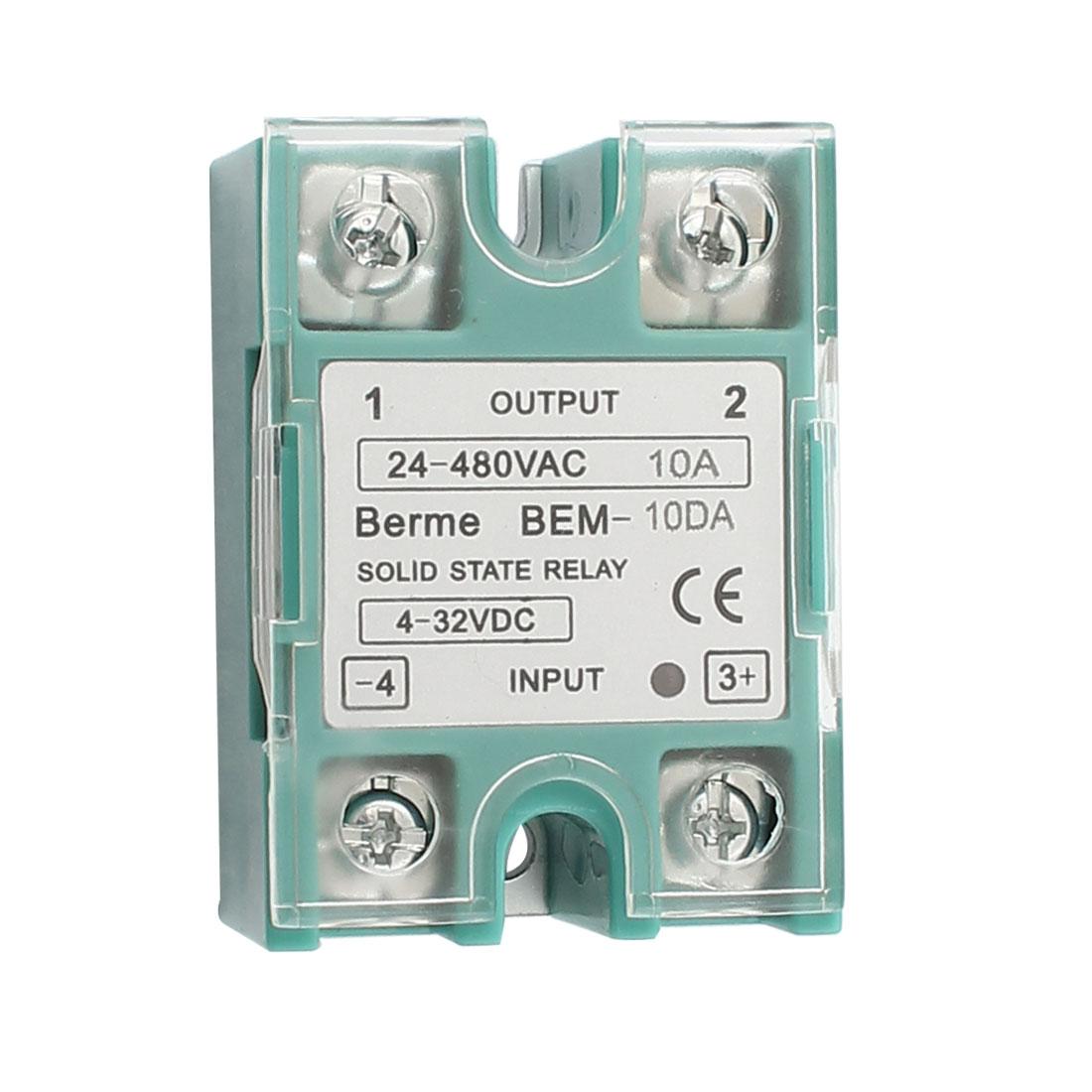 Solid State Relay Module BEM-1 10DA DC-AC 10A 4-32VDC/24-480VAC