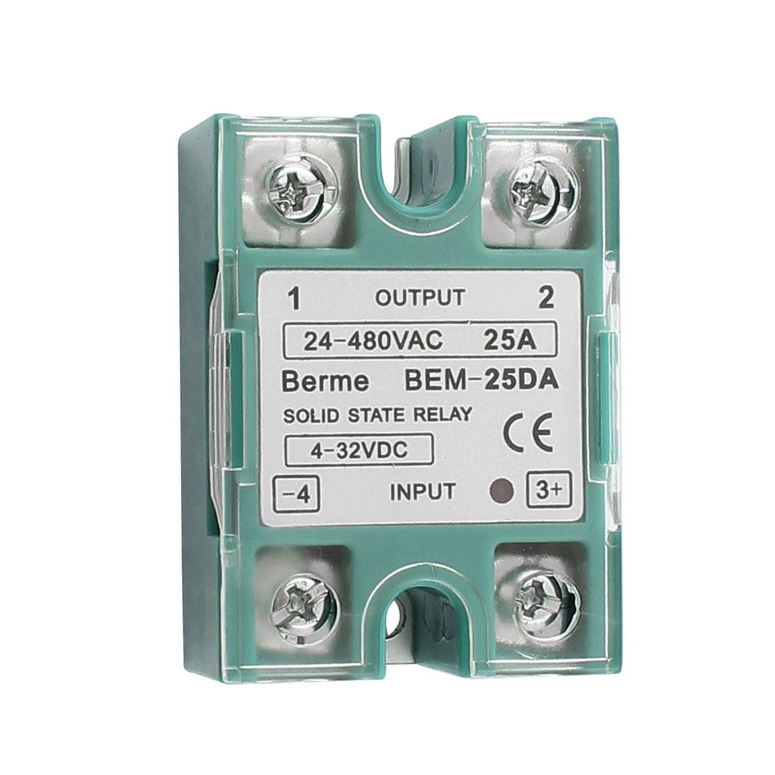 Solid State Relay Module BEM 25DA DC-AC 25A 4-32VDC/24-480VAC