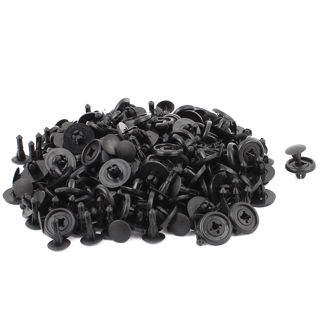 130pcs Black Plastic Rivets Fastener Push-Type Bumper Retainer Car Truck Door Trim Panel Clips