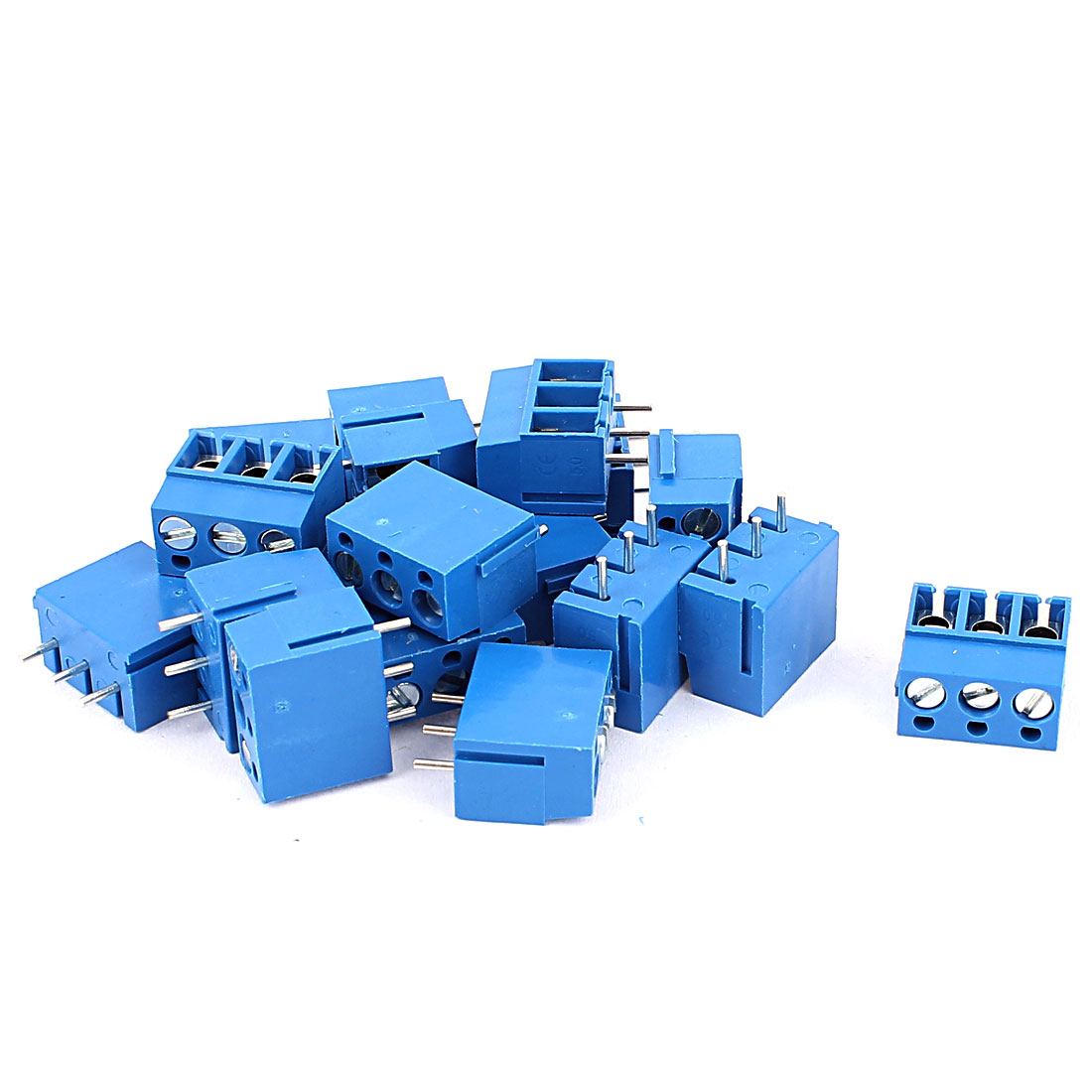 18pcs 3 Way 5mm Pitch Pluggable Type PCB Screw Terminal Barrier Block Connector for 14-22AWG Wire