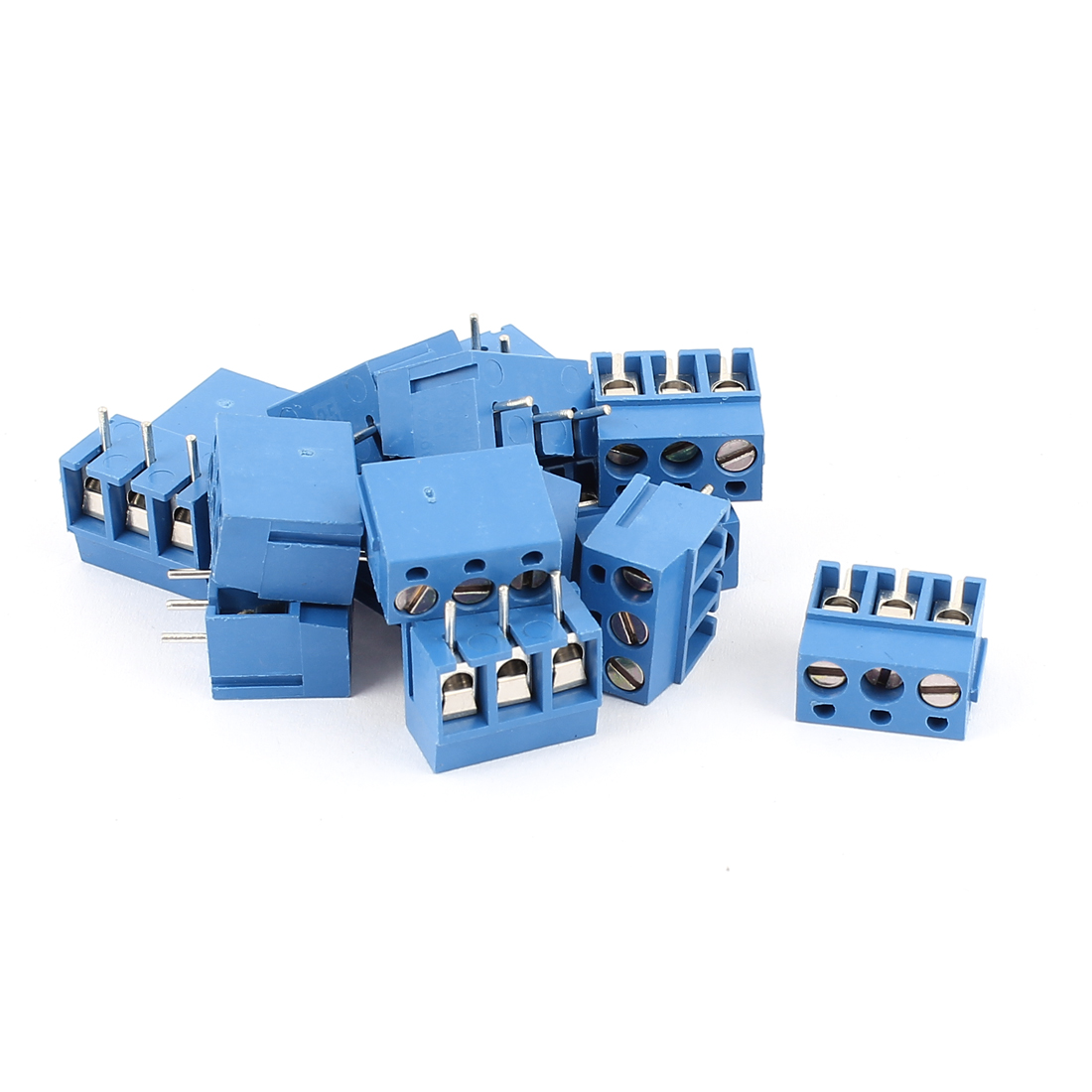 15pcs 3 Way 5mm Spacing Pluggable PCB Screw Terminal Barrier Block Connector for 14-22AWG Wire