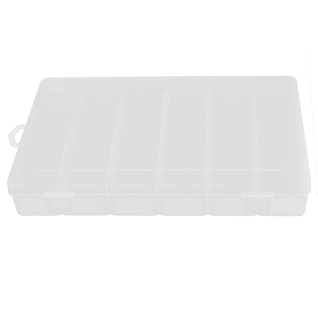 Clear White Plastic Detachable 36 Grids Electronic Components Storage Container Box Case