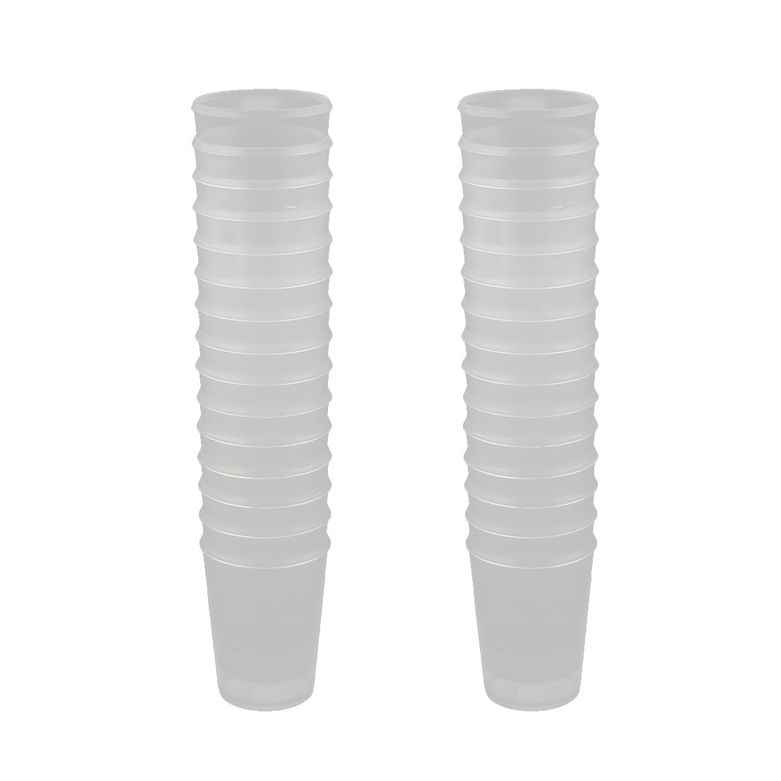 30pcs 50mL Capacity Plastic Graduated Scale Liquid Water Measuring Cup Beaker for Lab Kitchen