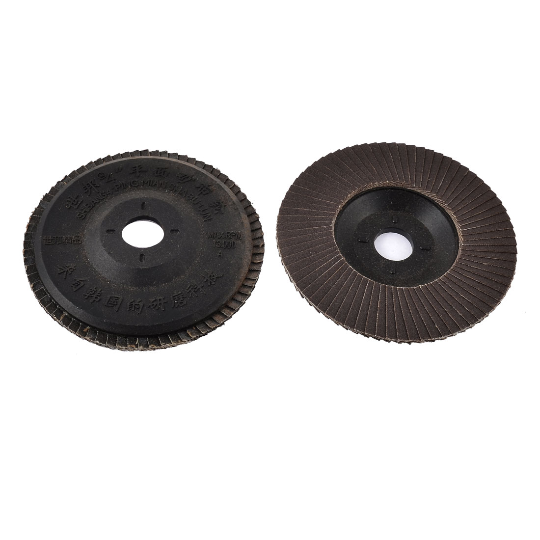 2pcs 180# Grit 100mm OD Round Flap Sanding Buffing Disc Abrasive Grinding Wheel