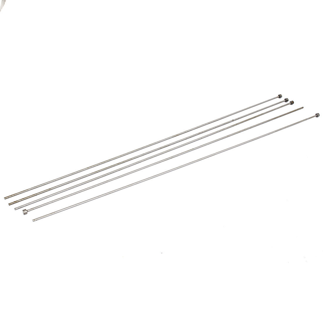 2.5mm Tip Straight Injection Mould Ejector Pin Thimble Punching 450mm Long 5pcs