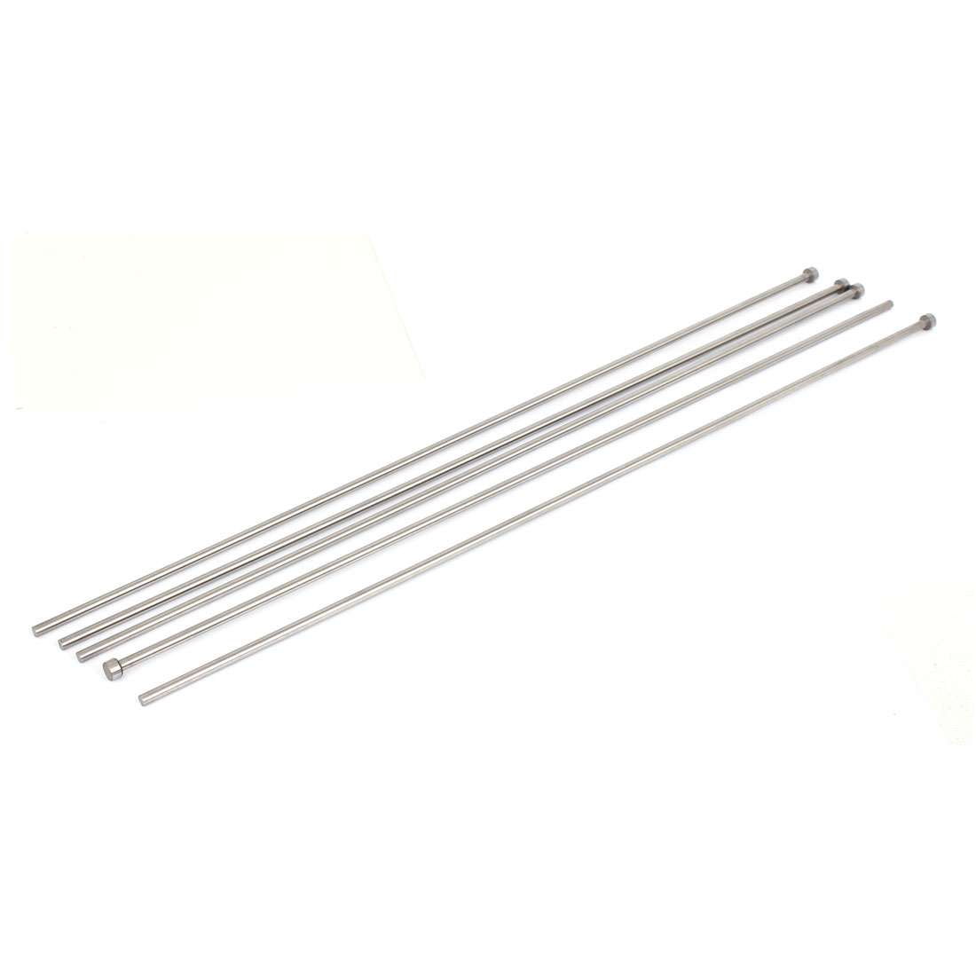 Die Mold Equipment Steel Straight Ejector Pins Punches 4.5mmx450mm Silver Gray 5pcs