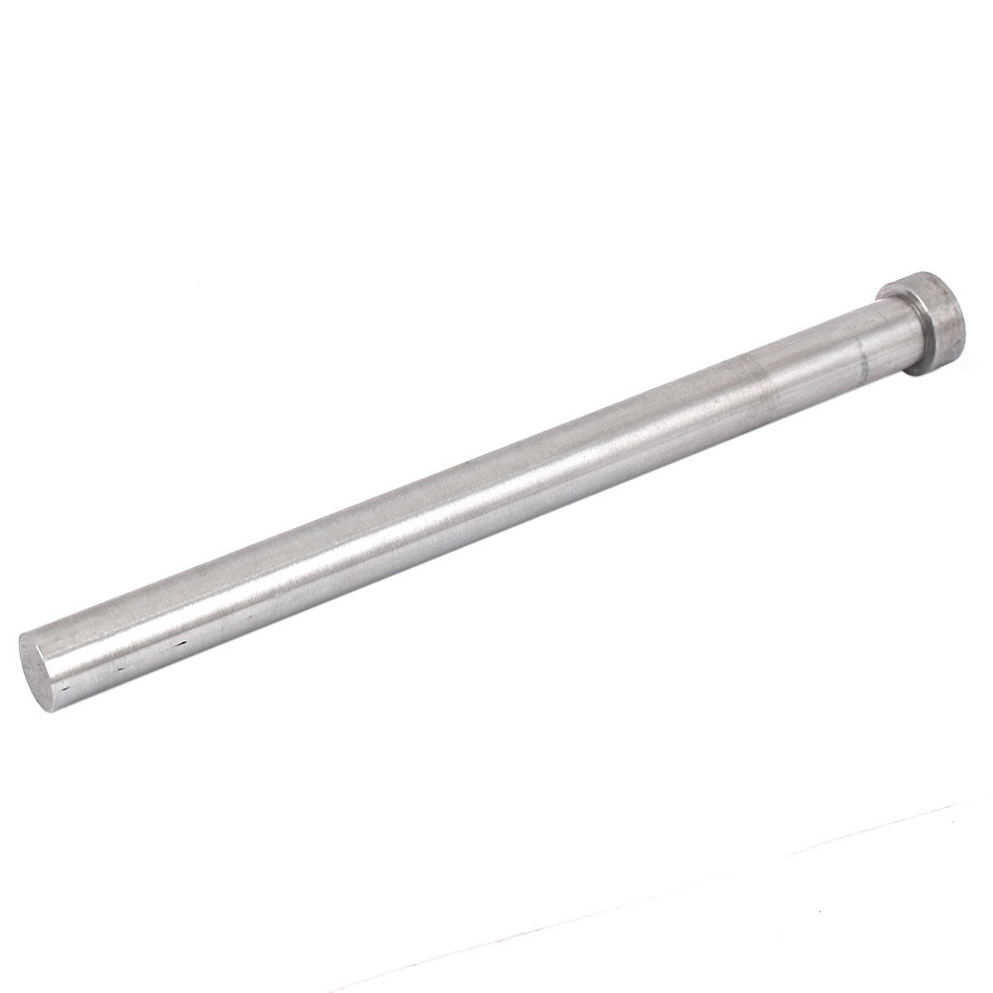 15mm Diameter Round Tip Steel Straight Ejector Pin Punch 200mm Long Silver Gray