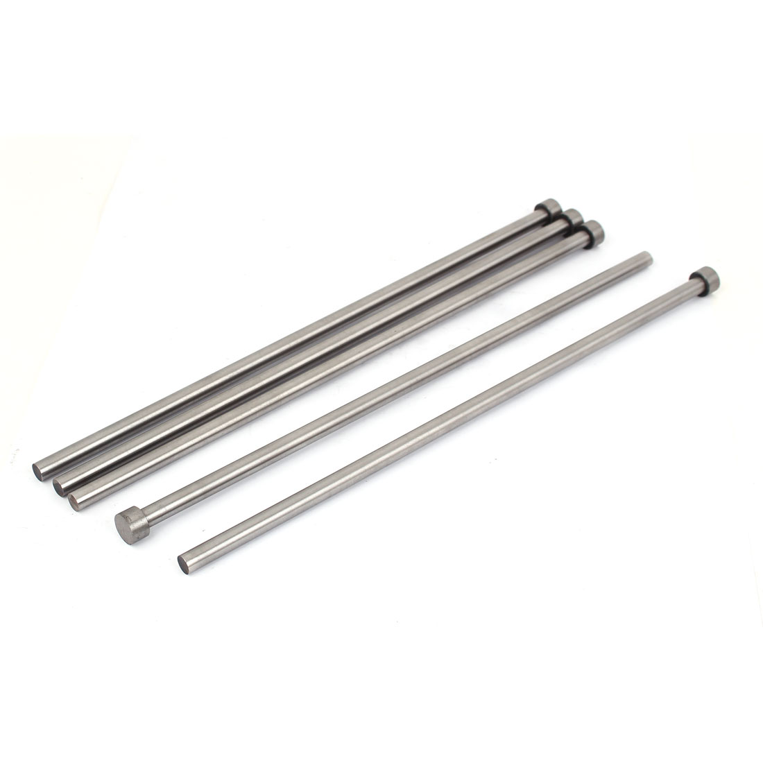 Die Mold Equipment Steel Straight Ejector Pins Punches 8mmx300mm Silver Gray 5pcs
