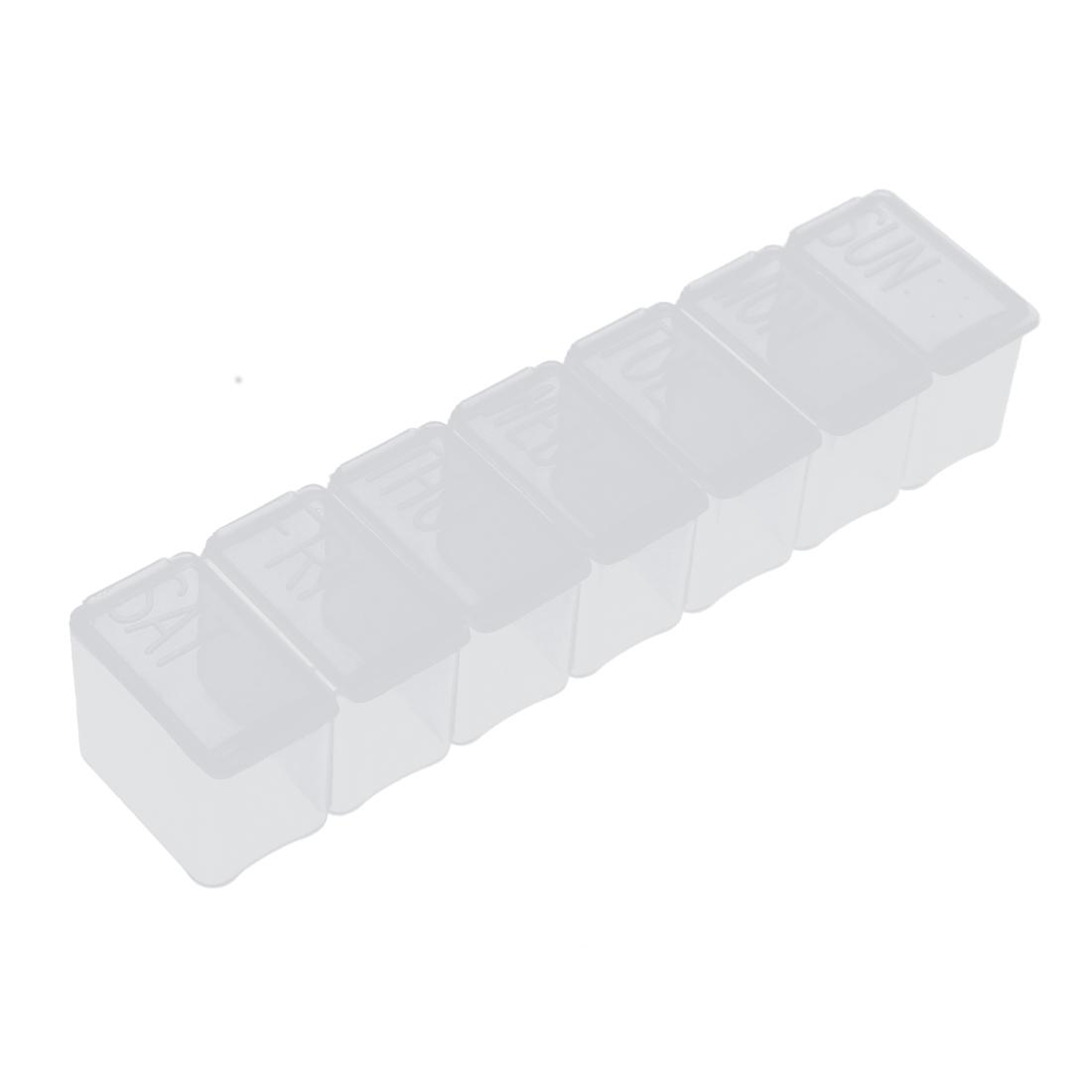 Pill 7 Days Weekly Dispenser Organizer Storage Case Box Holder