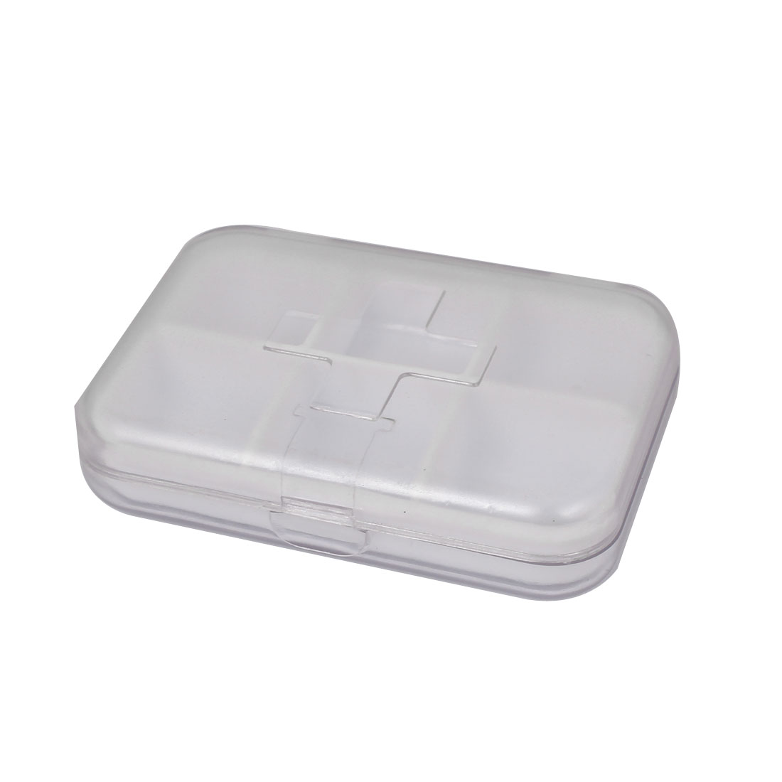 Medicine Dispenser Pill Organizer Holder Case Tablet Box Clear White