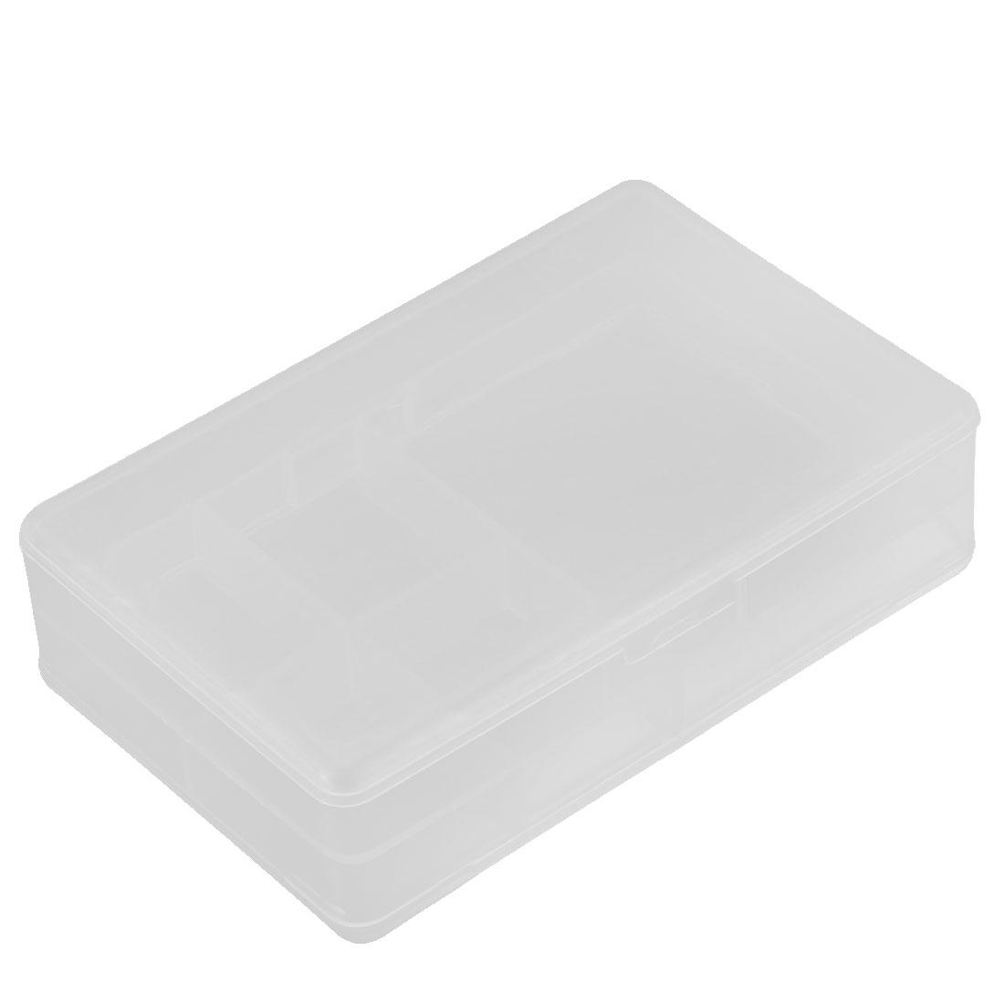 Plastic Dual Layers 5 Compartments Storage Case Box Organizer Conatiner