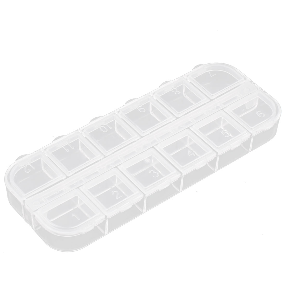 Electronic Component Dual Row 12 Slots Storage Case Box Organizer Container Holder