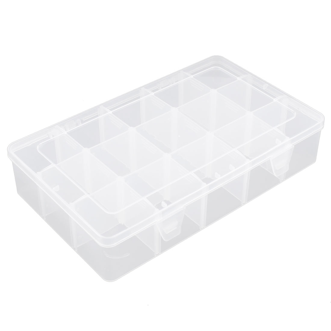 Jewelry Screws Plastic Multipurpose 18 Slot Storage Case Box Organizer Conatiner
