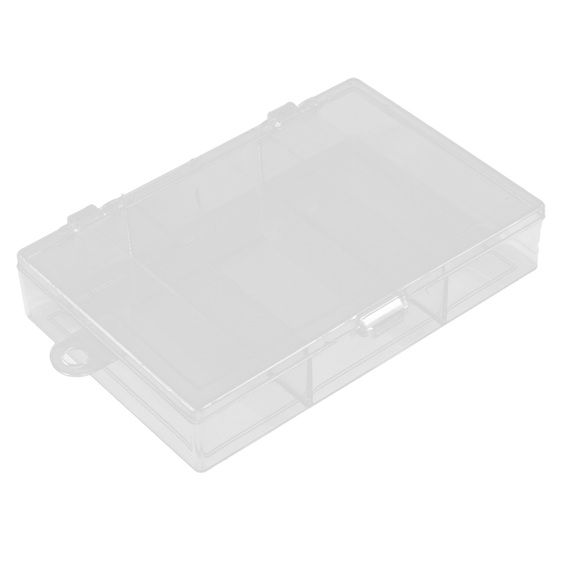 Sundries Plastic 3 Compartments Storage Case Box Organizer Holder Clear