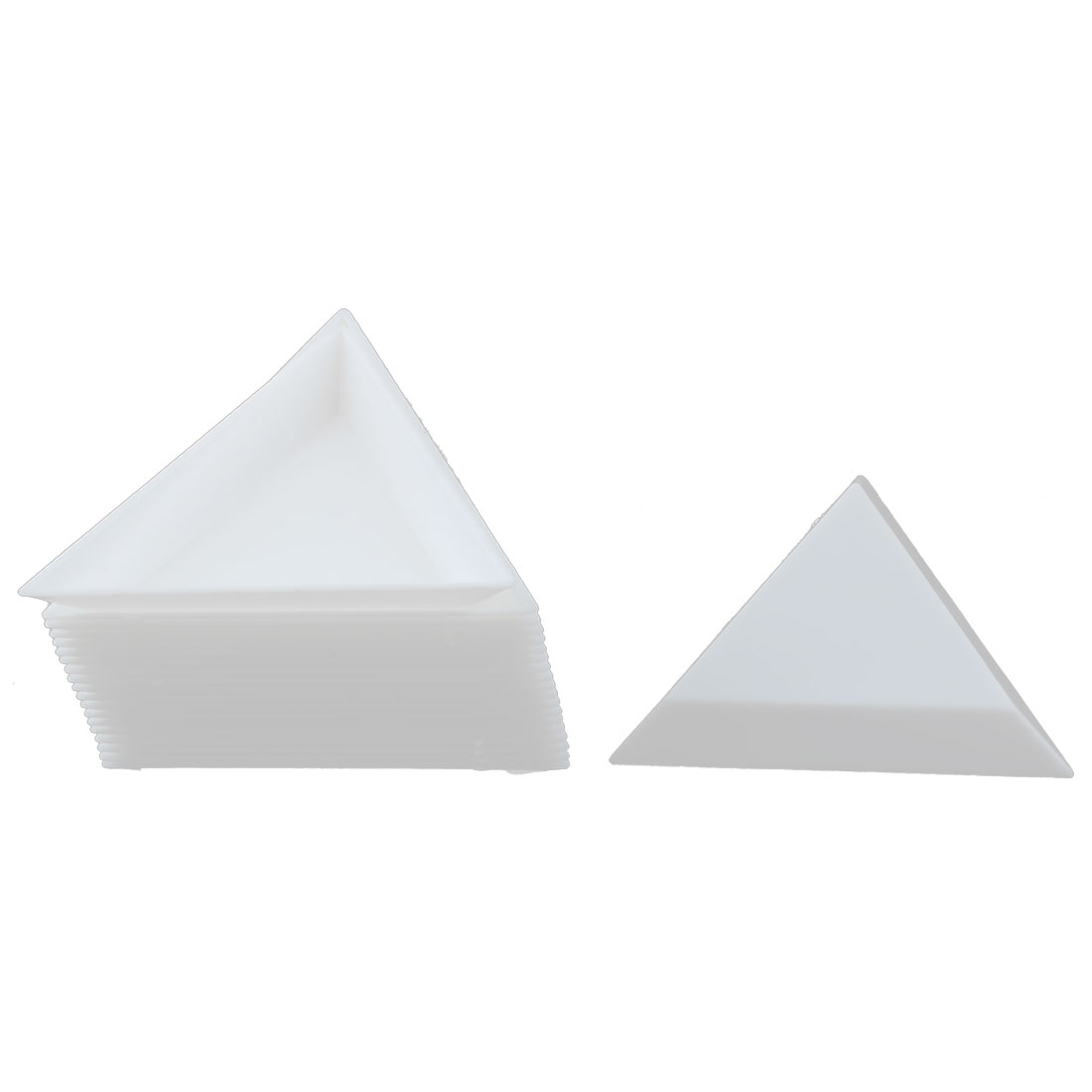 Artist Plastic Triangle Design Mini Paint Palette Tray Mixing Tool White 20pcs