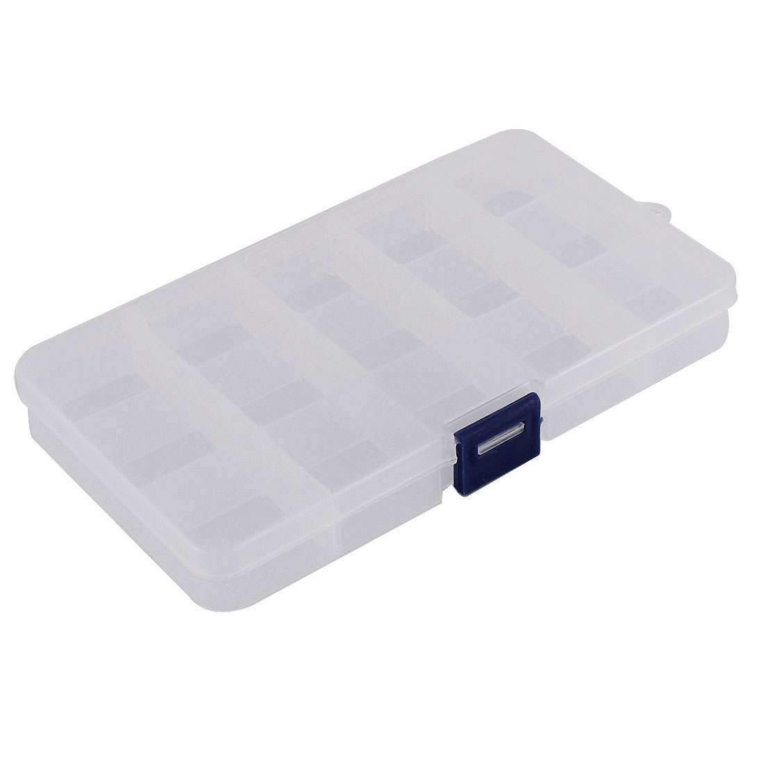 Medicine Jewellery Plastic 15 Slots Storage Box Case Organizer Container Clear