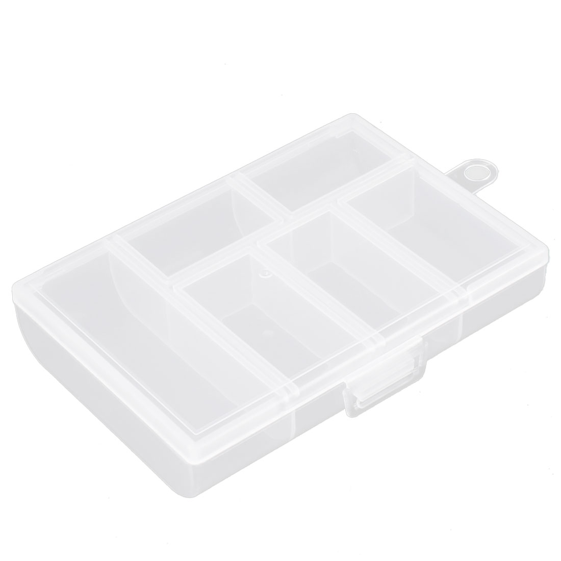 Pills Plastic 6 Compartments Storage Case Box Organizer Conatiner Clear