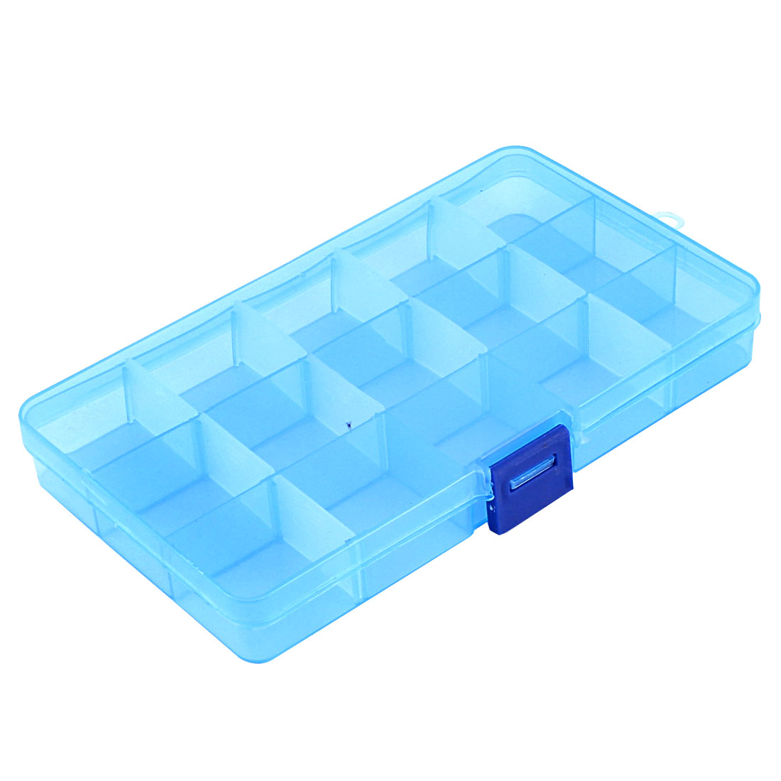 Medicine Jewellery Plastic 15 Slots Storage Box Case Organizer Container Clear Blue