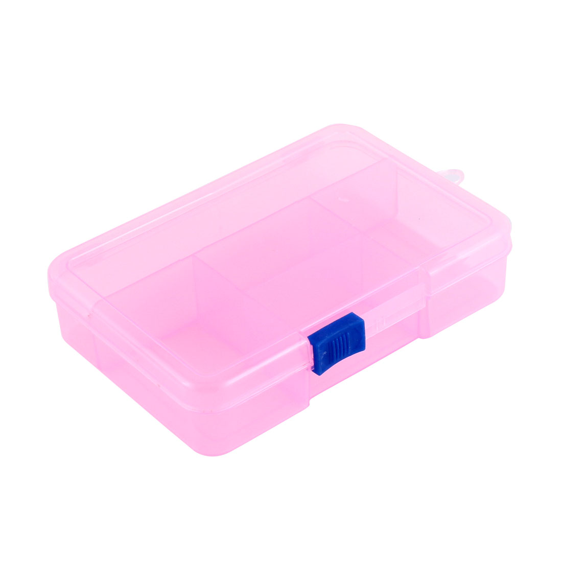 Home Jewelry Beads Fish Bait Plastic 5 Slots Storage Box Case Organizer Clear Pink