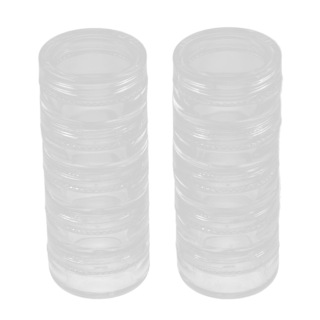 Plastic 5 Layers Makeup Cosmetic Cream Lotion Bottle Container 5g 2pcs