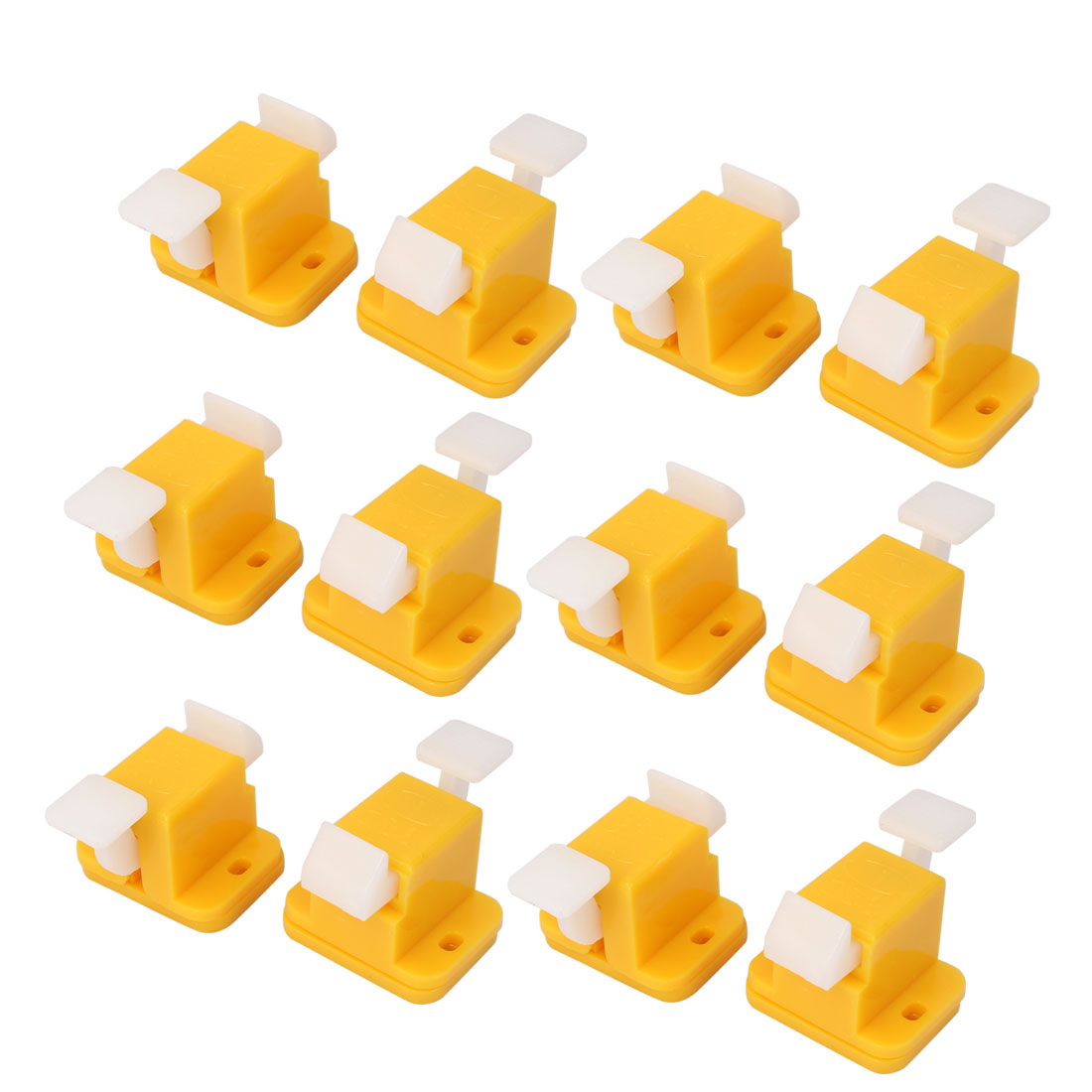 Plastic PCB Board Prototype Test Fixture Jig Latches Yellow White 12pcs