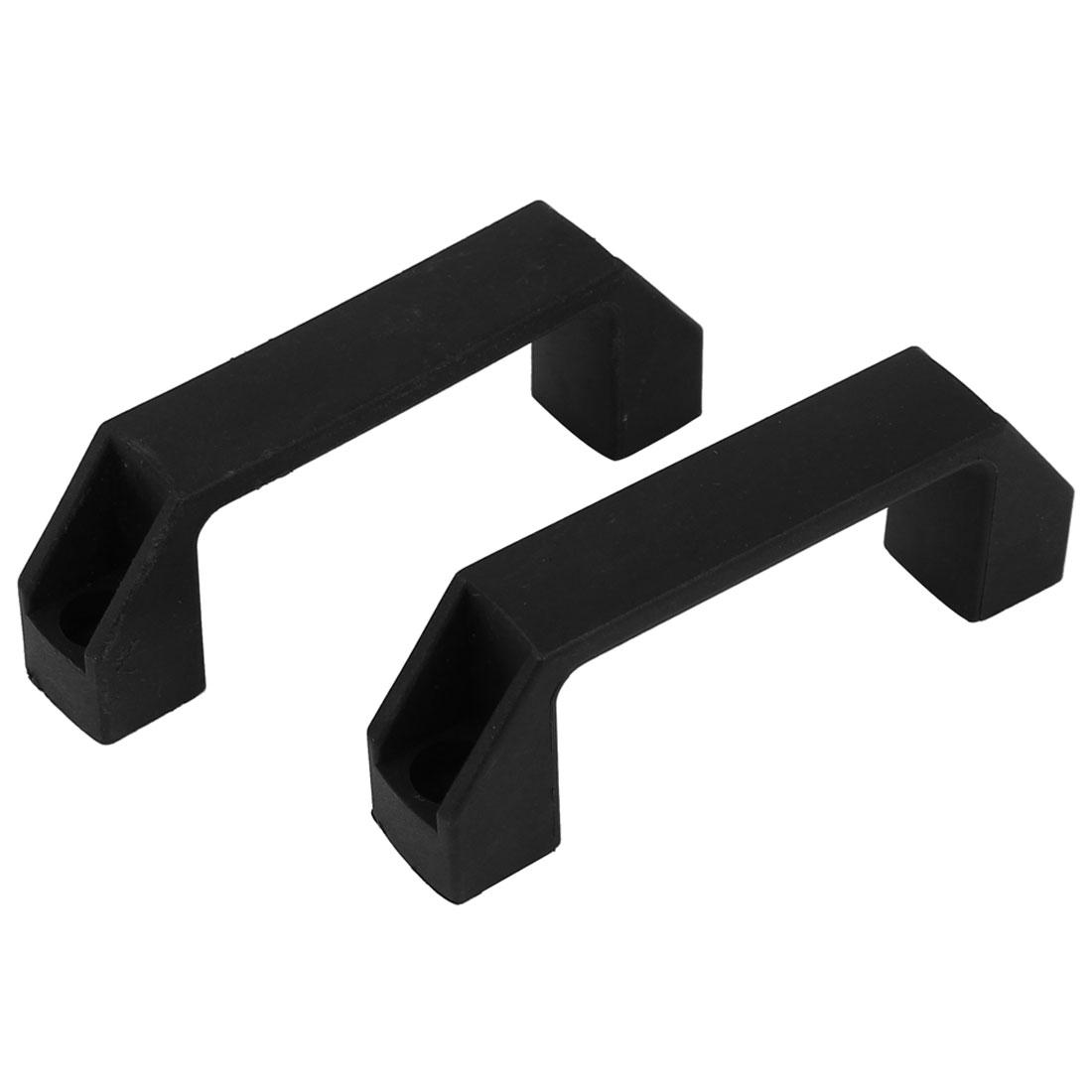 110mm Long Chest Box Plastic Pull Handle Black 2pcs