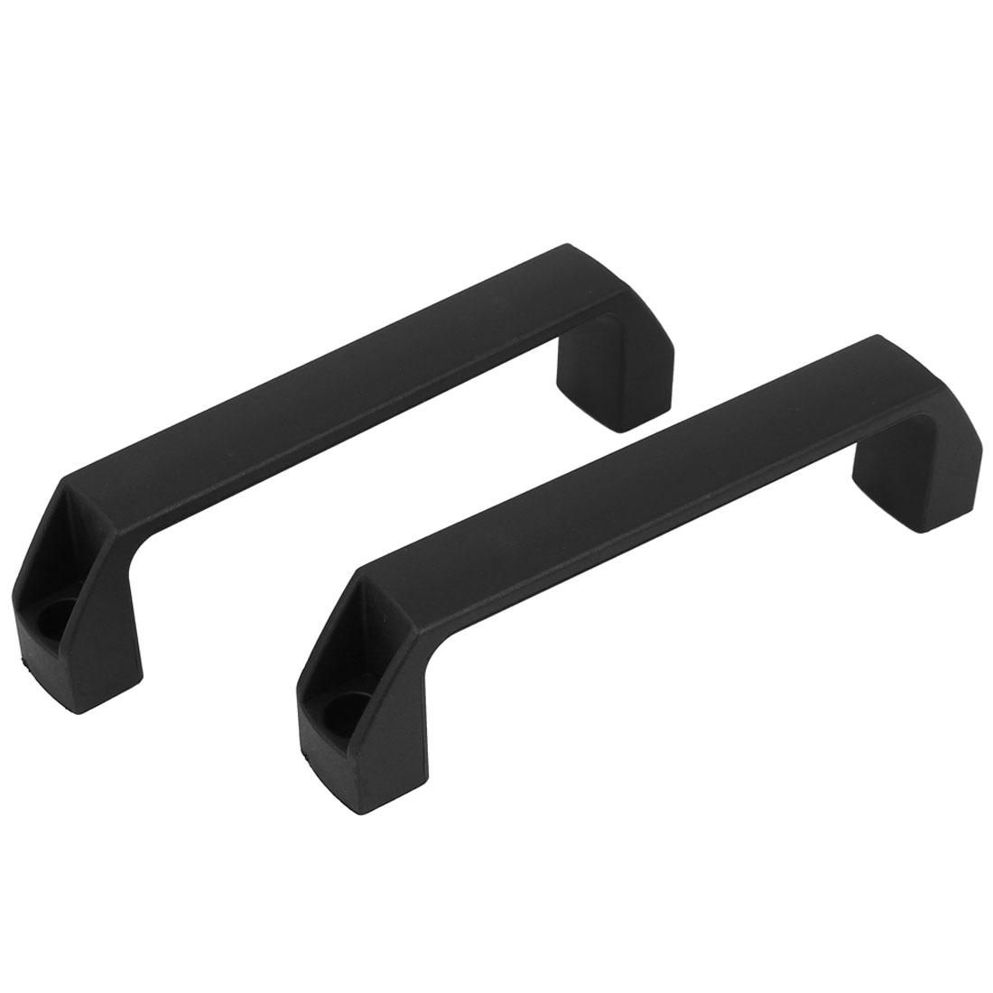 200mm Long Chest Box Plastic Pull Handle Black 2pcs