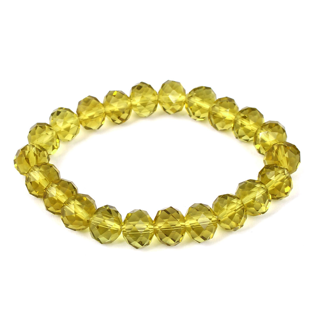 Girl Lady Gift Party Charm Fashion Jewelry Bling Elastic Crystal Bracelet Yellow