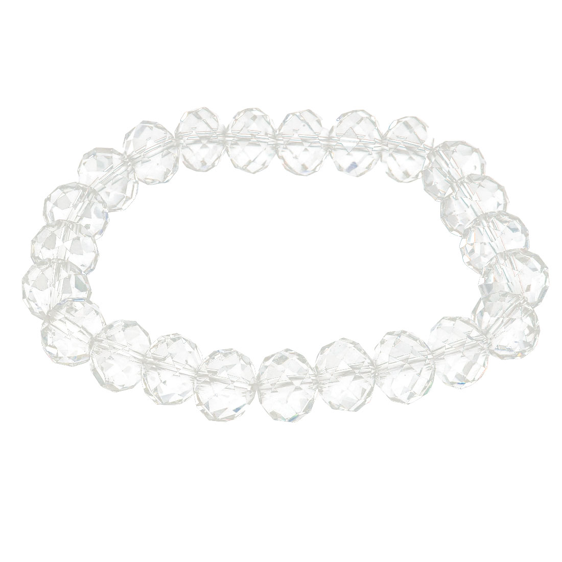 Girls Lady Gift Party Charm Fashion Jewelry Bling Elastic Crystal Bracelet Clear