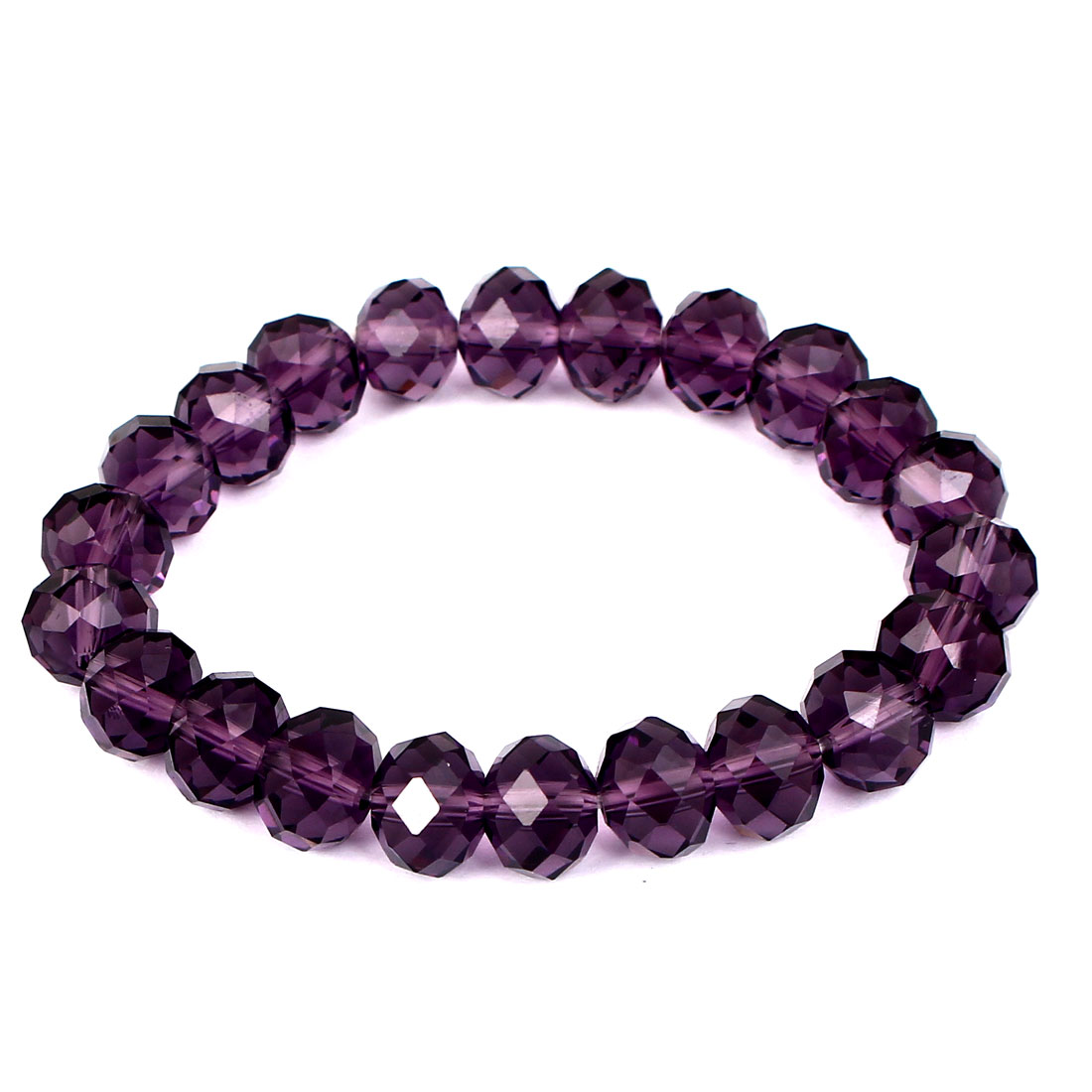 Girl Lady Gift Party Charm Fashion Jewelry Bling Elastic Crystal Bracelet Purple