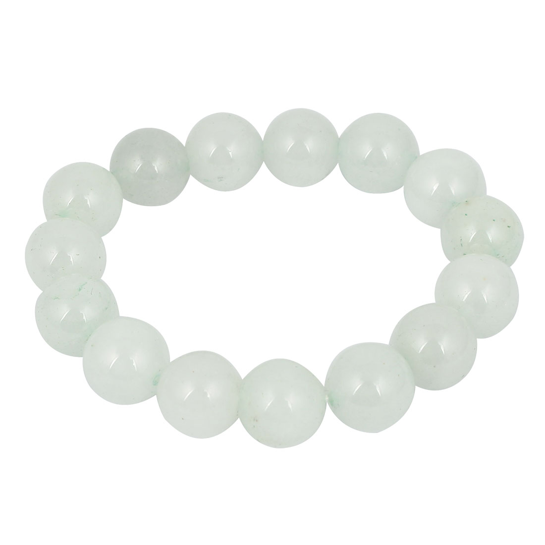Girls Lady Gift Party Charm Fashion Jewelry Elastic Stone Beads Bracelet White