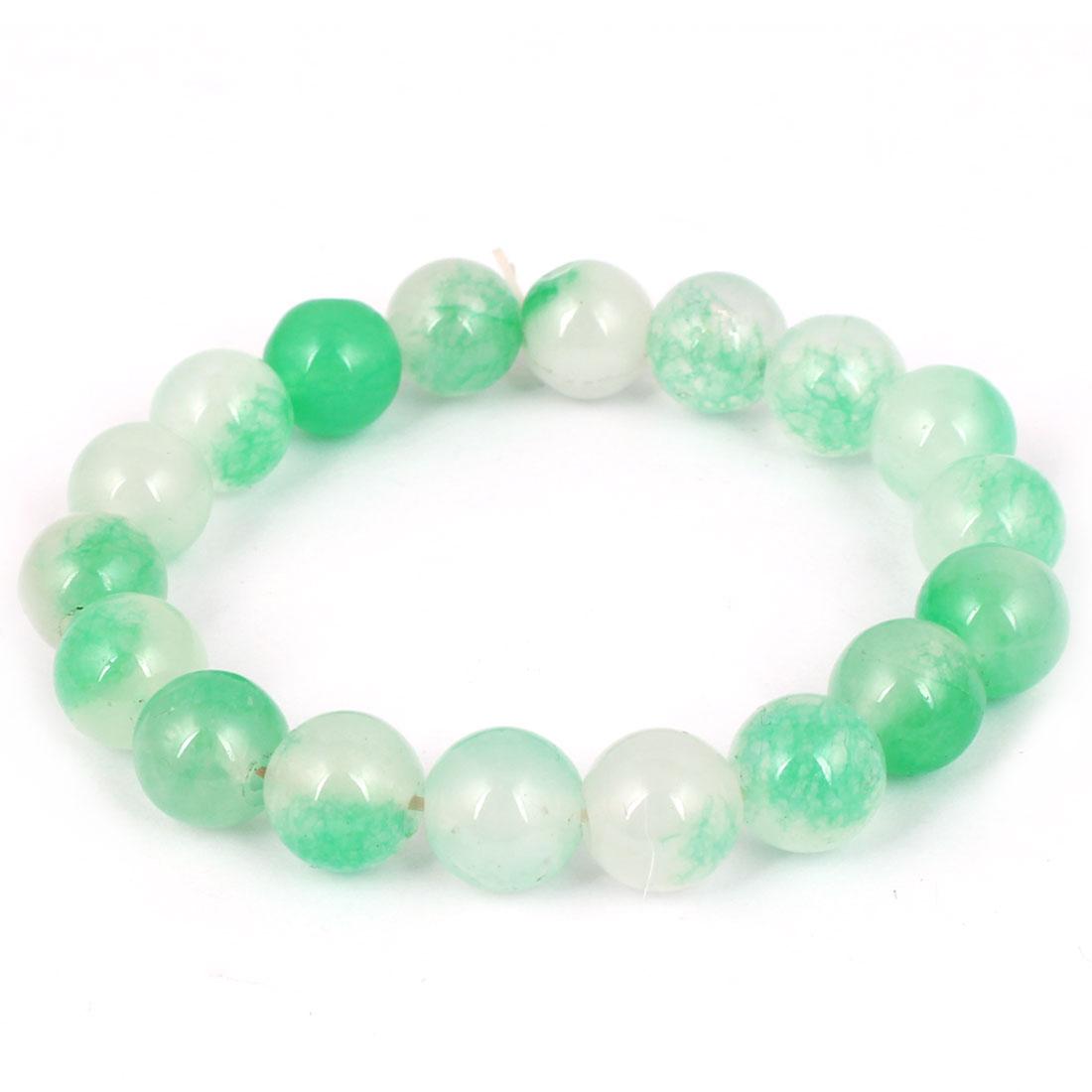 Girl Lady Party Charm Fashion Jewelry Elastic Stone Beads Bracelet Green White