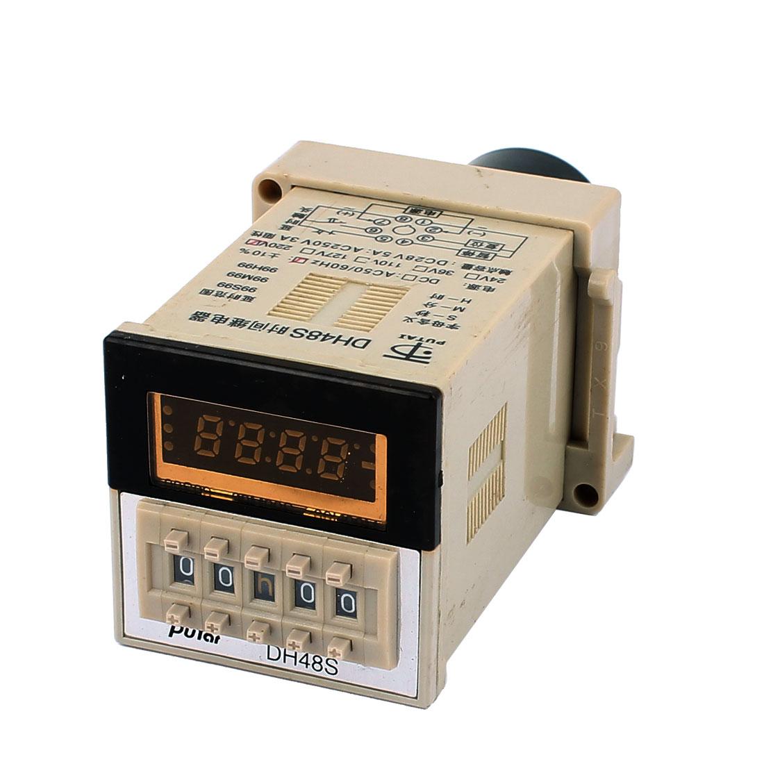 AC 220V DPDT 8 Terminals 0.01S-99H99M Digital Display Timer Delay Time Relay