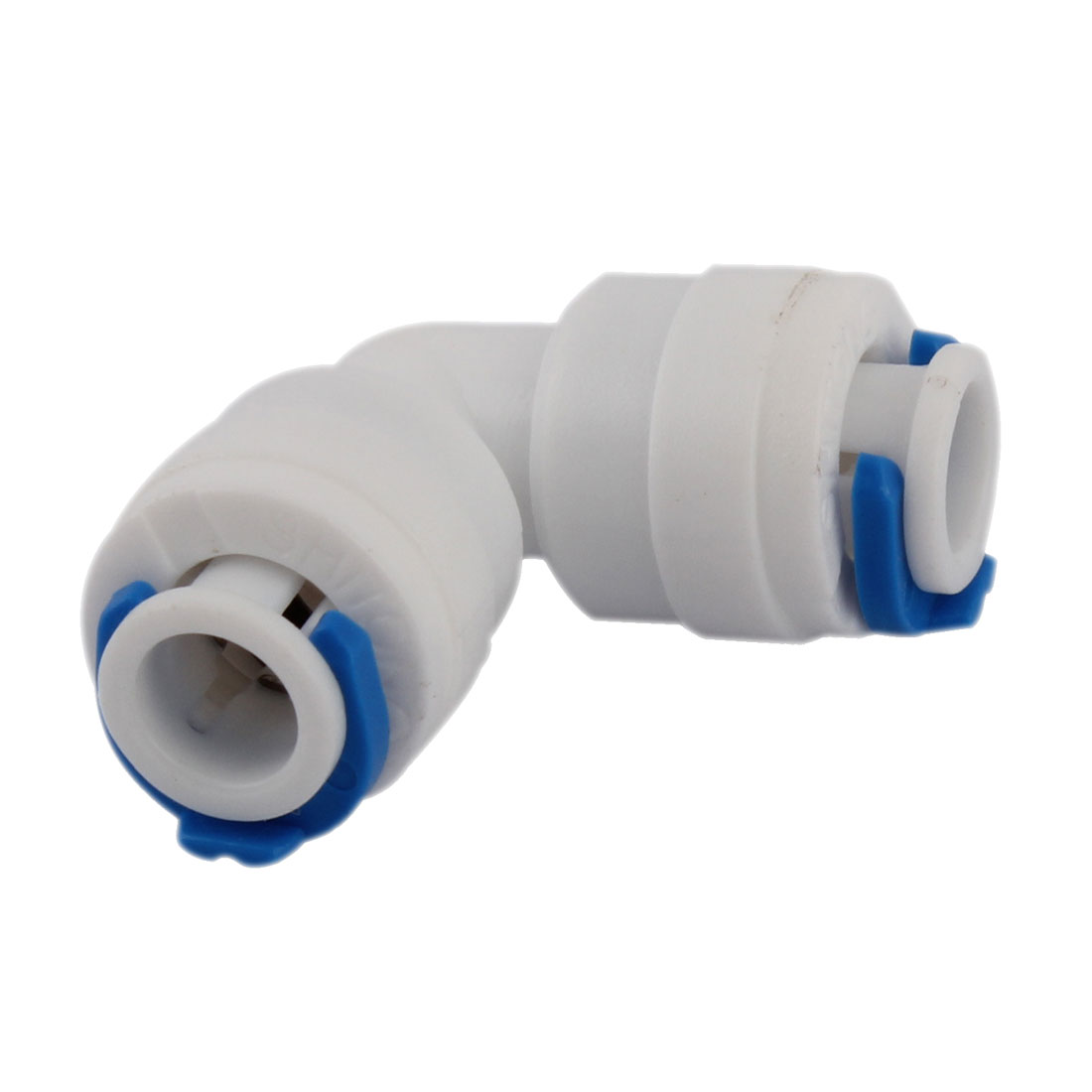 10mm Hole Diameter Plastic Water Pipe Tube Filter Quick Fitting Connector White