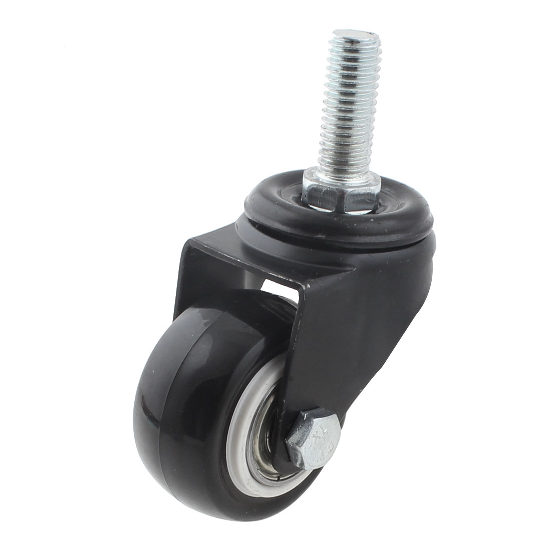 10mm x 25mm Threaded Stem Replacement Office Chair Swivel Caster Wheel Black